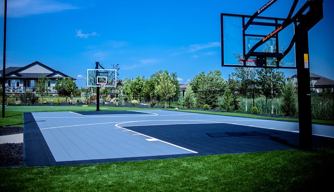 basket ball courts and putting greens