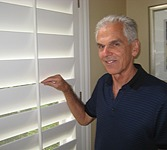 testimonials happy client with shutters
