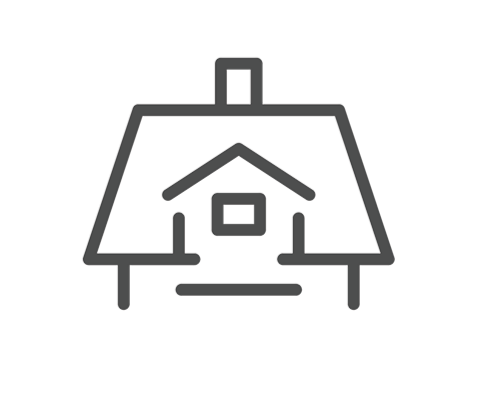 new roof installation icon