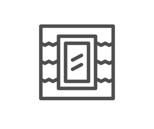 dormer window installation icon