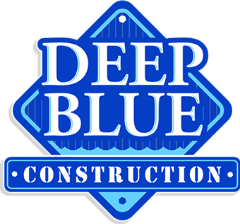 deep blue construction logo