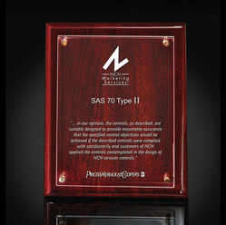 Double Layer Rosewood Plaque