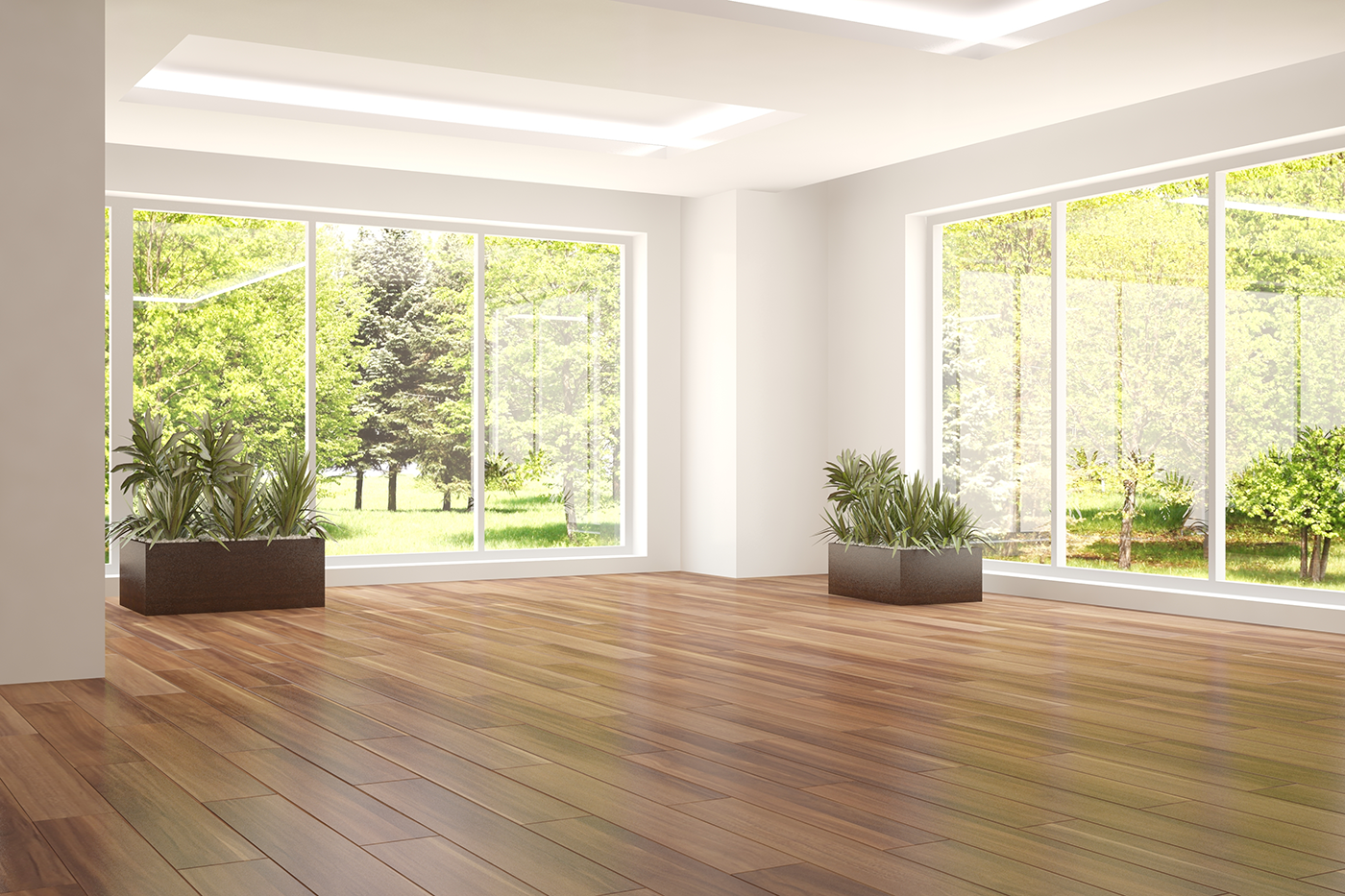 empty home with wood flooring