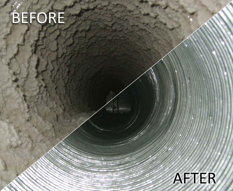 before and after vent cleaning