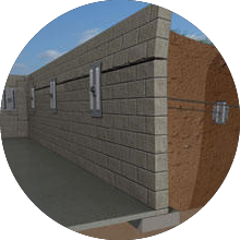 3D graphic of wall