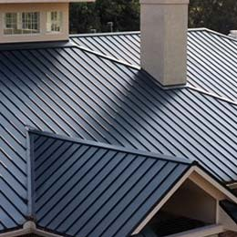 metal roofing on residential home