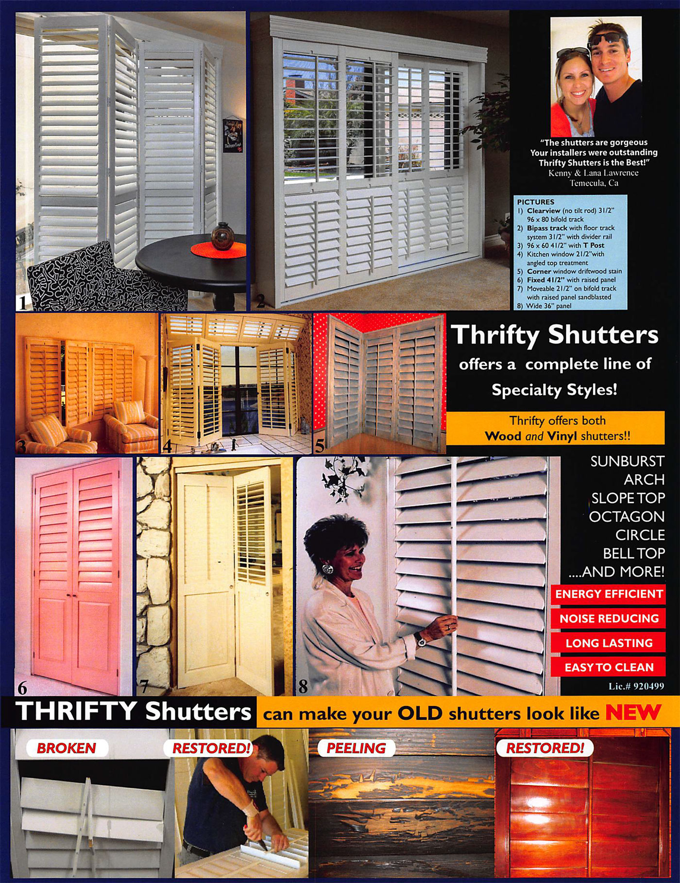 thrifty's shutters flyer