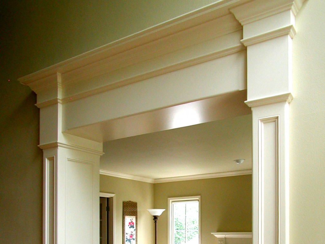 custom door trim and crown molding