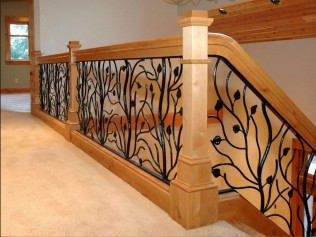 custom wrought iron railing inserts
