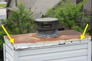 chimney crown loose home inspection