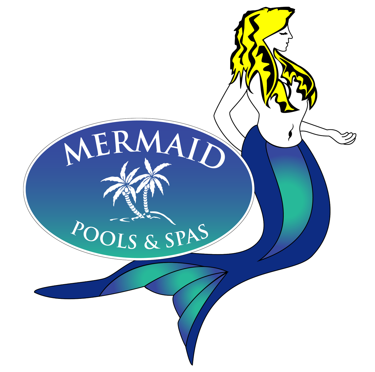 mermaid pools & spas logo
