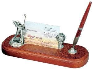 Golfer's Desk Set