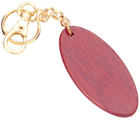 Wooden Oval Key Chains