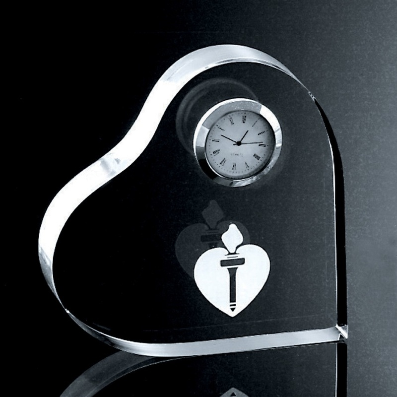 Acrylic Heart Clock
